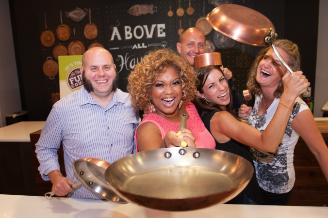 Food Network personality Sunny Anderson teaches a cooking class at the Chopping Block
