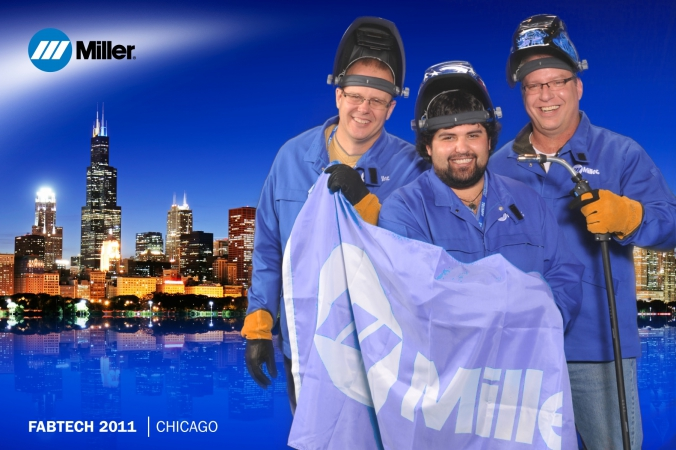 miller welding heroes, green screen photobooth, fabtech tradeshow, mccormick place, chicago