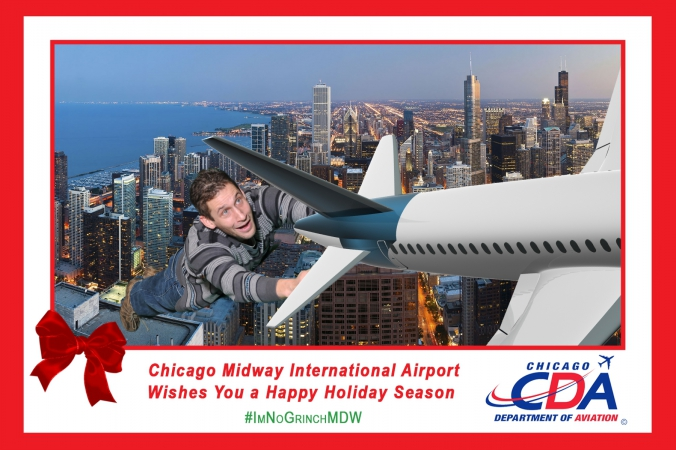 green screen photography social media campaign with onsite printing, midway airport, sponsored by chicago department of aviation, fab photo chicago