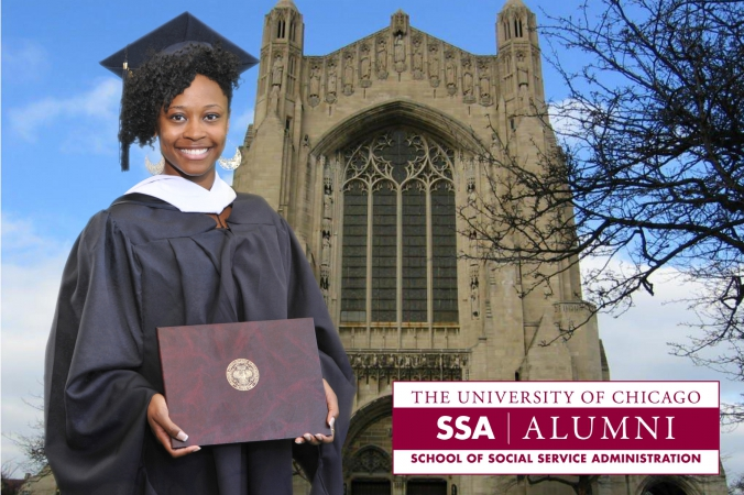 alumni sponsored green screen photography at university of chicago graduation ceremony, photo giveaway printed instantly on location