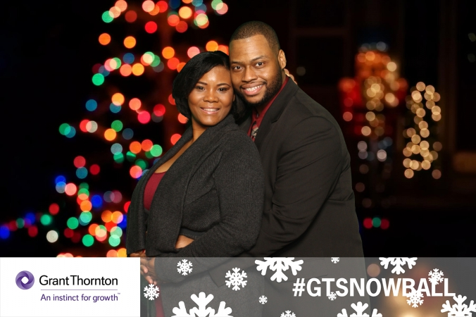 green screen photography at grant thornton snowball, holiday party 2014