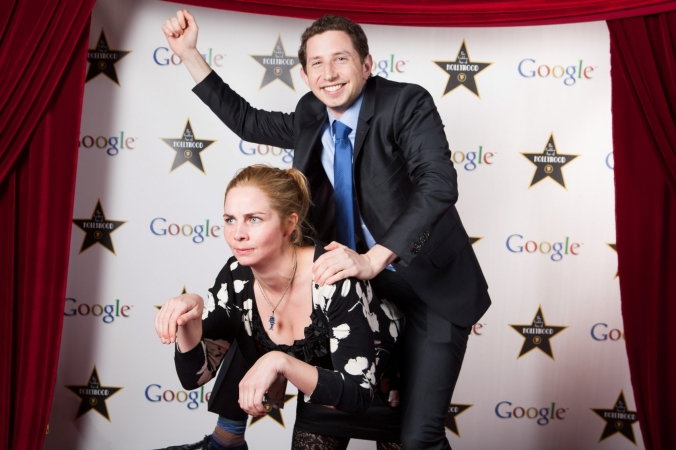 giddy up horsie! red carpet step repeat, google holiday party photo, cfab photo, chicago corporate event photography, photo entertentainment