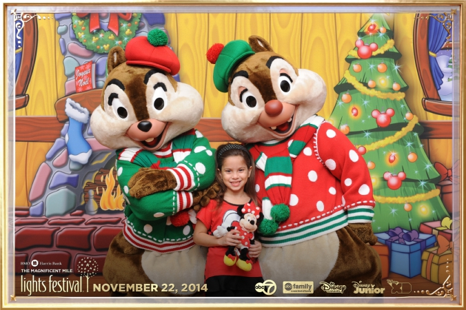different companies sponor the disney event photography chip and dale character appearance, get logos printed on photos