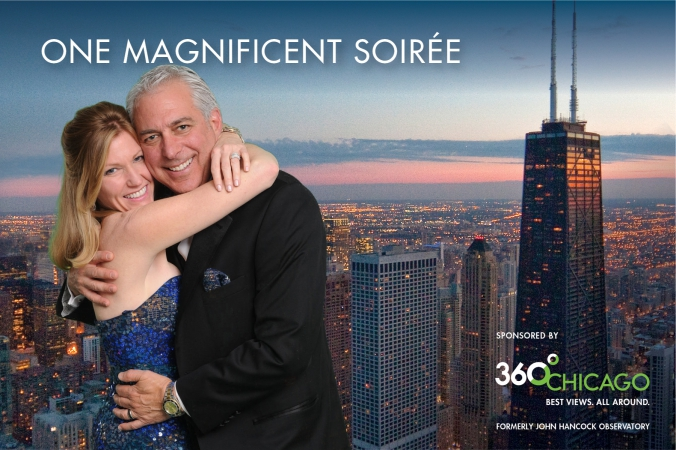 360 chicago sponsors green screen photobooth, gets logo printed on photo at annual chicaog event